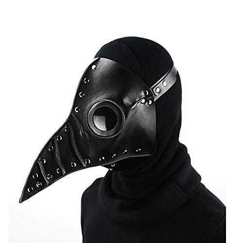 für Erwachsene, Cosplay-Maske, Plague, Doktor, Vogel, Schnabel, Schnabel, Cosplay, Steampunk, Halloween, Kostüm-Requisiten, Schwarz ()