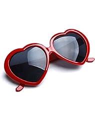 HuaYang 2013 très demandé en forme de cœur l'amour rétro lunettes de soleil(Rouge)