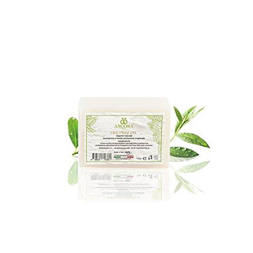 Sapone Naturale Tea tree oil 100g Prodotto Italiano lavorazione artigianale a temperatura bassa