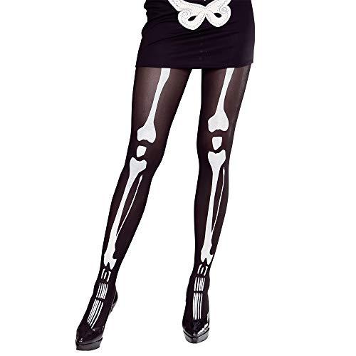 Widmann - Strumpfhose Skelett - Skelett Kostüm Strumpfhose