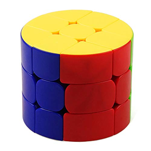 JIAAE 3X3 Zylinder Rubiks Würfel Kinder Puzzle Allotype Säule Rubik Bunt Kein Fading Spielzeug -