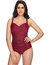 Nidhi Munim Wine Wrap Magicsuit for Women
