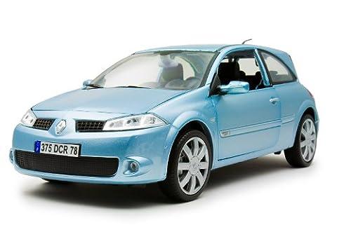 1/18 die-cast miniature cars Renault Megane Spall metallic light blue