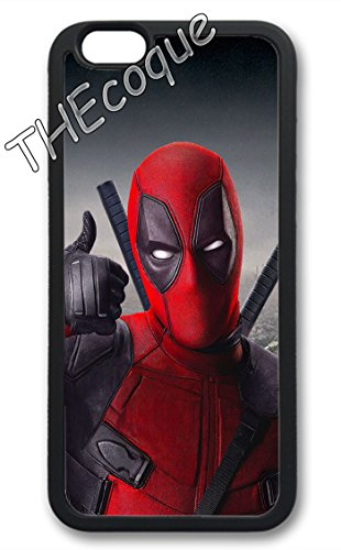 Coque silicone BUMPER souple IPHONE 6/6s PLUS - DEADPOOL marvel CASE motif 1 DESIGN + Film de protection INCLUS 3
