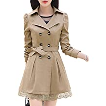 buy online db29f 446bc Amazon.it: trench donna - Beige