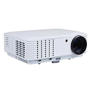Full HD 2800 Lumens Vidéoprojecteur Projecteur multimédia LED Haut-parleur intégré Support 1080P AV / HDMI / USB / VGA / ATV Compatible avec Home Cinema Theatre TV Jeux pour ordinateur portable iPa