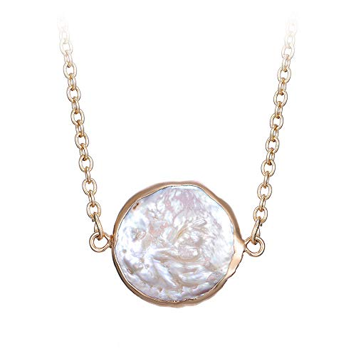 TianranRT Mutter,Europa Und Den Vereinigten Staaten Halskette New Stars Moon Koreanische Version Der Einfachen Mode Perle Verschönerung Einfache Retro-Mode Zarten Look,Gold (A)