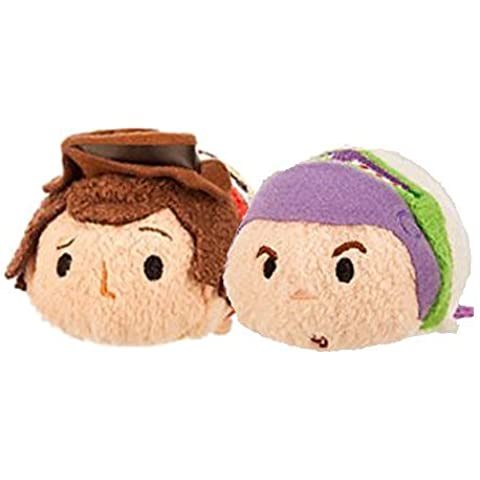 Tsum Tsum Plush Toy Story Set of 2 -Woody and Buzz Lightyear by Disney