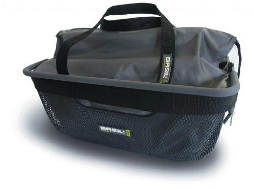 Basil Mano Praktische Fahrradkorb Einsatztasche für Körbe bis 30cm x 40cm Fahrradtasche Shoppertasche Fahrradkorb Schwarz Wasserdicht 17045