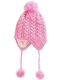 63d4583eb Cinnamou Gorros Sombreros y Gorras para Bebé niño niña Calentador de Oreja  de Invierno Sombrero Orejas de