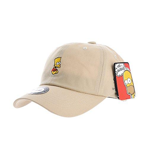 c1fd6b0bf7d WITHMOONS Baseballmütze Mützen Caps The Simpsons Ball Cap Crossed Bart  Simpson Embroidery HL1867 (Beige)