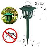 Solar Mosquito Lamp, Solar Powered LED Light Pest Bug Zapper Insect Mosquito Killer
