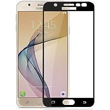 CareFone Samsung J7 Prime Tempered Glass, Screen To Screen Fit Full Tempered Glass, 2.5D Curved Glass (Samsung J7 Prime Black)