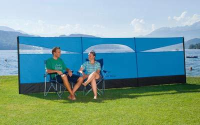Berger Wind- und Sonnenschutz Screen, blau, 500 x 140 cm, für Camping, Strand und Garten
