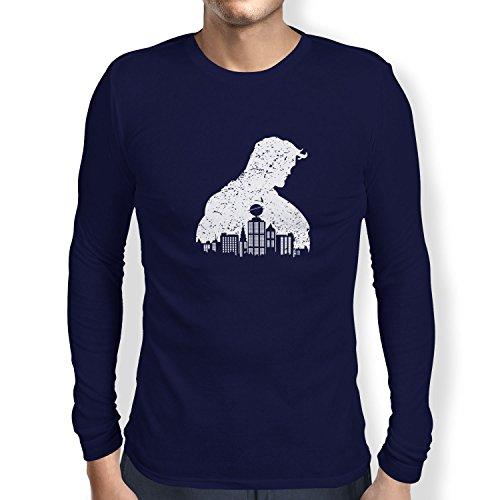 TEXLAB - Vintage Clark - Herren Langarm T-Shirt, Größe M, navy