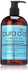 Pura d'or Anti-dandruff: Premium Organic Shampoo (16 fl. oz.)