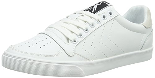 hummel Slimmer Stadil Ace Sneaker, Scarpe da Ginnastica Basse Unisex - Adulto, Bianco (White), 38 EU