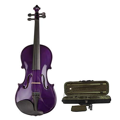 Tragbar Violett Violett Handgefertigte Akustikvioline Studenten Anfänger Mehrere Größen Natürliches Fichtenholz aus massivem Fichtenholz mit Hartschalen-Ebenholzbeschlägen Geburtstagsgeschenk Weihnach