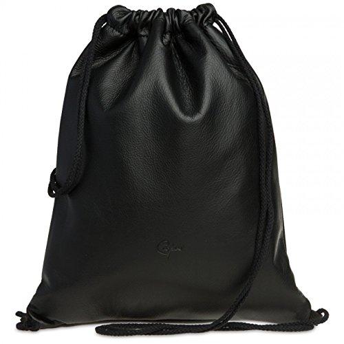 Caspar tl716de piel de alta calidad Bolsa de deporte/TURN Bolsa en Vintage Retro Style, color negro, tamaño One size