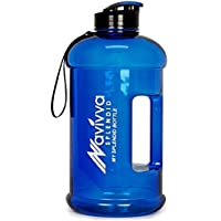 NAVIVVA SPLENDID Spülmaschinenfest Sport 2,2L Trinkflasche - Heiße Kalte Getränke - Große Kapazität, Auslaufsicher, BPA-frei, Transparent – Drinkflasche für Fitness Camping Fahrrad Gym Heim oder Büro