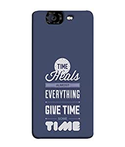 Fuson Designer Back Case Cover for Micromax Canvas Knight A350 :: Micromax A350 Canvas Knight (Healing Heal Time Quote Message )