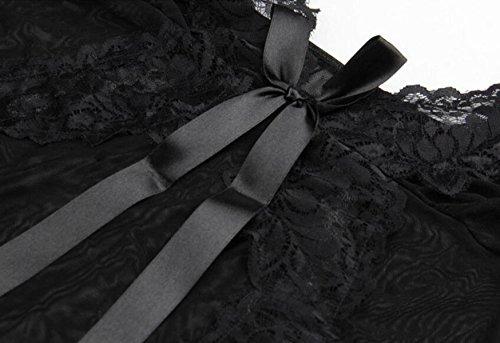 Pigiama Pigiama Sexy Tentazione Estrema Lingerie Bretelle In Pizzo Sezione Sottile Trasparente Camicia Da Notte Regali Di Natale Black