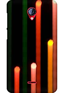 AMEZ designer printed 3d premium high quality back case cover for Micromax Unite 2 A106 (abstract light candle)