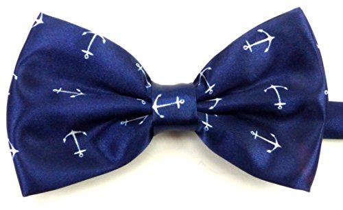 Evil Wear Anzug-Fliegen Herren Damen Krawatten-Fliege alle Größen Men Woman Cravat-bow tie black 5149: Farbe: blau-anker 5150 Black Tie Bow Tie