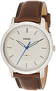 Fossil Minimalist Slim Men's Gray Dial Leather Band Watch - FS