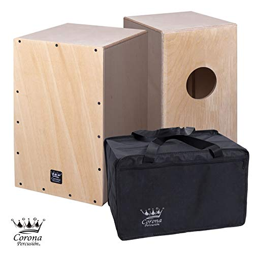 Cajon flamenco + bolsa de transporte - nuevo cajón de percusión acabado abedul natural sin barnizar, para darle su toque mas personal ...