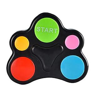 Funihut – Consola de juegos portátil, juego de memoria electrónico con luces hipnóticas, sequencias sonoras, máquina…