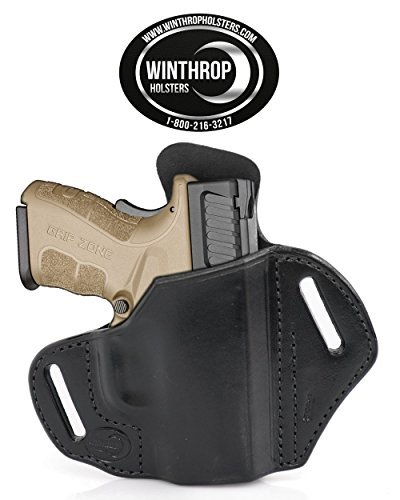 Kimber Solo No Lasergrips OWB Shield Leather Holster R//H Black