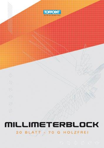 Mm Block (100 Blatt (5x20 Blatt) Millimeterpapier DIN A4)