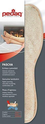Pedag Pascha Winter Lammfelleinlagen mit Natur Korkboden, EU 37
