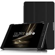 IVSO Asus Zenpad 3S 10 Z500M Cover Custodia - Slim Smart Cover Custodia Protettiva in pelle PU per Asus Zenpad 3S 10 Z500M Tablet, Nero
