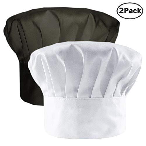 e80405fd21b IHUIXINHE Restaurante de Cocina de Estilo Hongo Gorro de Cocinero Gorro de  Cocinero,Negro,