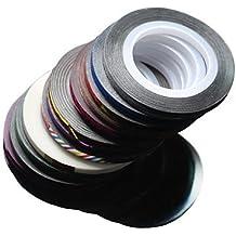 Rollos de Striping cinta línea uñas pegatina uñas DIY Kit uñas arte UV Gel Tips 1PC , 1#