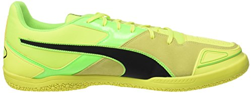 Puma Invicto Sala, Chaussures de Football Compétition Homme Jaune (Safety Yellow-puma Black-green Gecko 15)