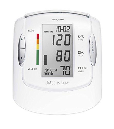 Medisana MTP Pro Oberarm-Blutdruckmessgerät ohne Kabel, Arrhythmie-Anzeige, WHO-Ampel-Farbskala, für präzise Blutdruckmessung und Pulsmessung mit Speicherfunktion
