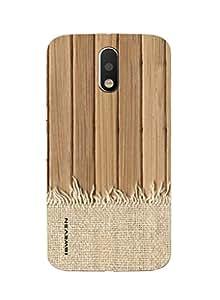 iSweven printed MOTOG4P_3110 wood wallpaper Design Multicolored Matte finish Back case cover for Motorola MOTO G4 PLUS