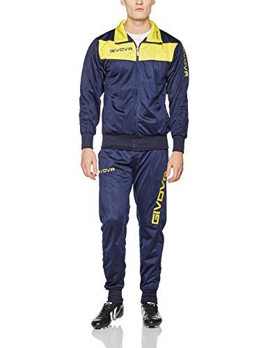 Givova Tuta Visa, Chándal Para Hombre, Multicolor (Azul/Amarillo), L
