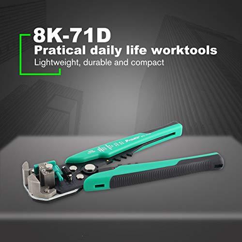 Proskit 8PK-371D Herramientas de engarce automáticas multifunción Cable Stripper (Color: Negro y...