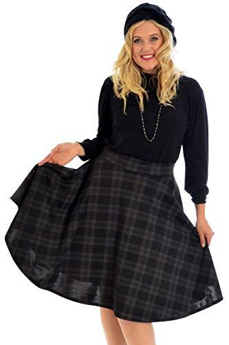 Nouveau Hängen (Nouvelle Collection Tartan Skater Skirt Charcoal 26-28)