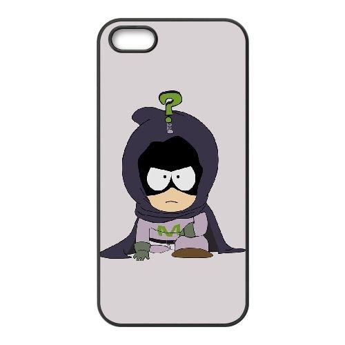 Mysterion South Park coque iPhone 5 5S Housse téléphone Noir de couverture de cas coque EOKXLKNBC22748