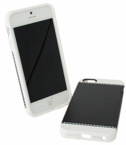Avcibase 4260310645117 Design Naht Harte Schutzhülle für Apple iPhone 5/5G schwarz/weiß