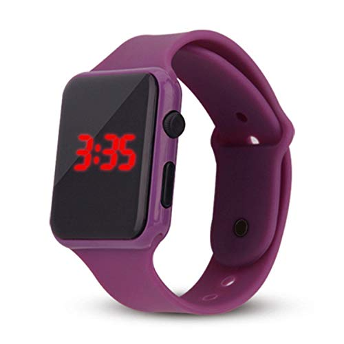 IG-Invictus Unisex Digital LED Sportuhr Silikonband Armbanduhren Männer Kinder Mode Digital LED Sportuhr Silikon Gürtel Uhr