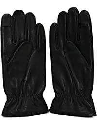 Calvin Klein Metal Plate Leather Gloves Guanti Uomo