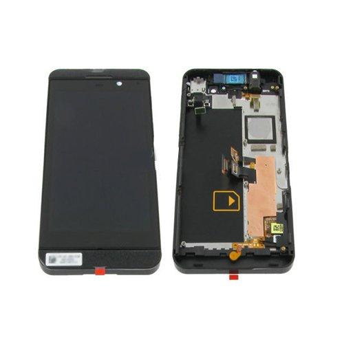 BisLinks® LCD Display Panel + Touch Screen Digitizer mit Rahmen Ersatzteil Für Blackberry Z10 (Lcd-display Blackberry Für Z10)