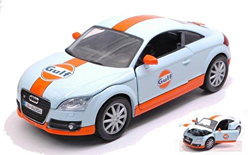 NEW MOTORMAX MTM79645 AUDI TT 2015 GULF SERIES 1:24 MODELLINO DIE CAST MODEL