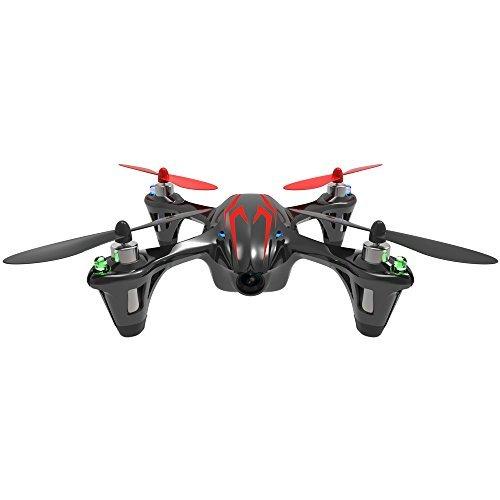 Hubsan Drohne H107C X4 Quadrocopter 2.4 Ghz 4 Kanal mit 480P Kamera (Rot Schwarz)